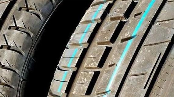 Цветовые метки на протекторе шин